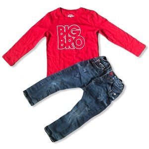 Zara and Oshkosh Boys 4T Bundle with Jeans and Top